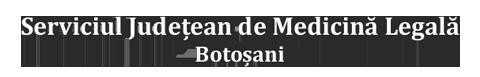 Serviciul Județean de Medicină Legală Botoșani Logo
